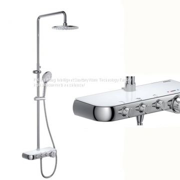 2018 NEW promotion rain shower sets with bracket chrome colour 3 functions Foshan factory
