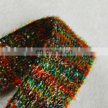 Colorful Fur design for winter ribbon trimming