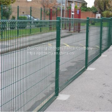 Triangle edg roll top fencing decorative metal yard guard fence for Myanmar