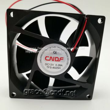 CNDF  passed CE have EMC and LVD certificate 80x80x25mm ventilador sin escobillas de la c.c. 80x80x25mm