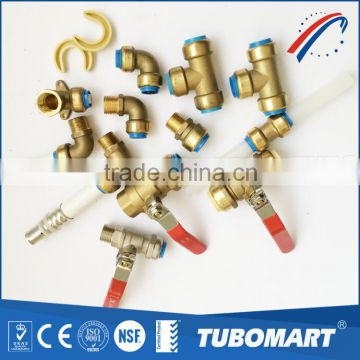 Metal fitting straight / elbow / tee valve brass Push-in Fitting with reasonable price                                                                         Quality Choice