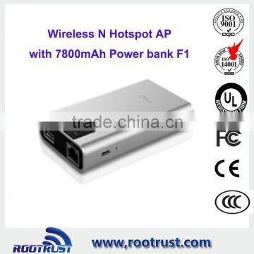 Broadband wireless N wifi router with battery