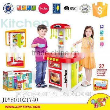 Kitchen cabinet toys for kids dining table kitchen tool series water tool with music light