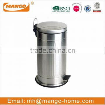 Soft Closing Kitchen Foot Pedal Stainless steel trash bin