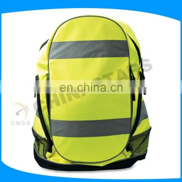 yellow Reflective Bag Pack with reflective tape