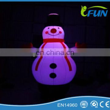 inflatable snowman with led/giant inflatable snowman/christmas inflatable snowman