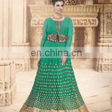 Party wear suit with embroidery and sequens work traditional dress for women