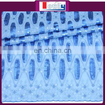 2015ss fashionable and hot selling shinnig sequins organza fabric for party