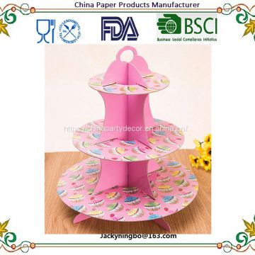 New fashion design double layer decoration cupcake cake stand wedding birthday party dessert paper stand plate Amazonhot