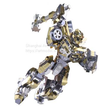 3D Puzzle Metal Model puzzle Movable bumble bee Laser cutting