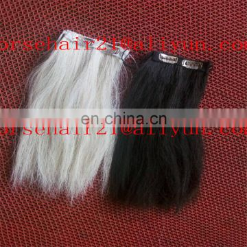 36inch long pure white horse tail hair for horse tail extensions