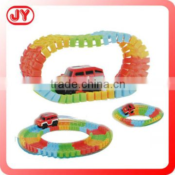 Stunt rail car toys battery operate flexible track toys