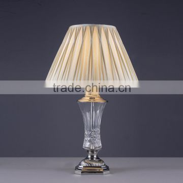 Chrome finish iron discount night table lamp for bedroom