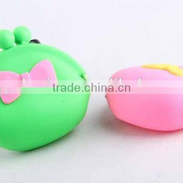 Silicone Purse with 3D Butterfly Knot/ Coin Purse