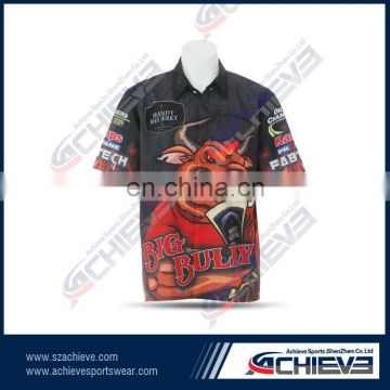 hot sale 1/4 zipper motocross jersey for men sporting racing jersey for club motorcycle shirts