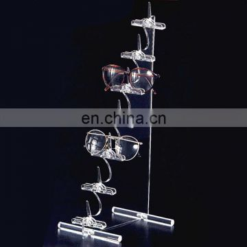 creative design transparent and steady acrylic glasses display rack