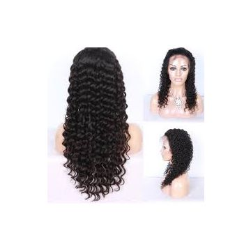 Natural Real  14 Inch For White Women Brazilian Curly Human Hair Full Lace No Chemical