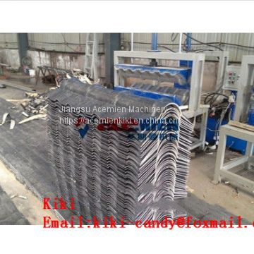 Colorful Roof Tile Forming Machine / PVC Roof Forming Sheet Extrusion Machinery