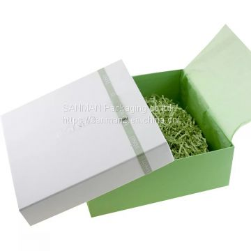 Rigid paper gift box custom retail ccarbon fiber packaging box