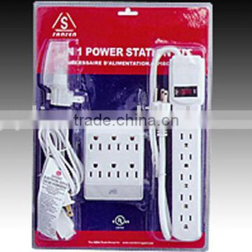UL power strip value pack/power extension outlet