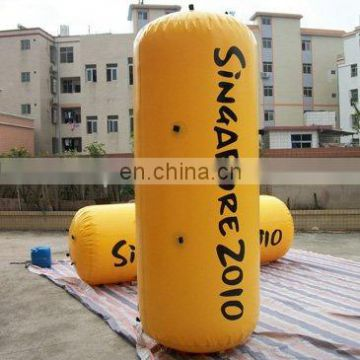 inflatable buoy, inflatable triangle buoy, marker buoy