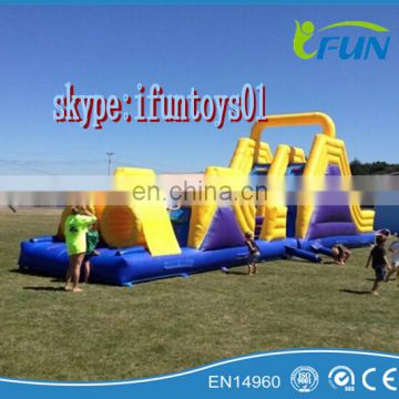 inflatable assault track course /portable assault course inflatable run track