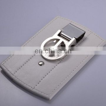 CUSTOM SIDE MONEY CLIP LEATHER CARD WALLET
