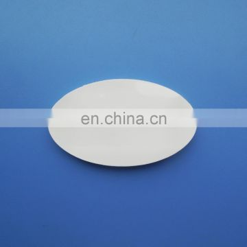 Customized oval shape white color 3D embossed company logo soft pvc name badge