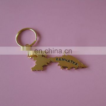 KAMYTAKA map gold plated metal key chain net address back logo