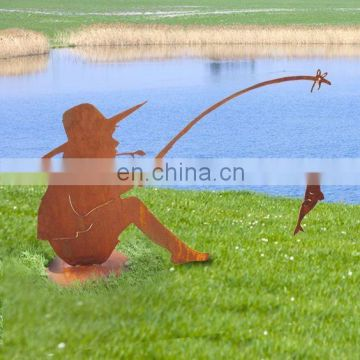 Latest Funny rusty metal garden ornaments in corten steel