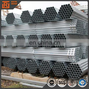 3m-12m length Galvanized steel pipes Hollow section round tube 25mm diameter 48mm Dia 60mm OD