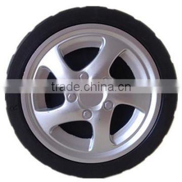7/8/10 inch lawn mower plastic wheel with two lid for garden cart, hand truck