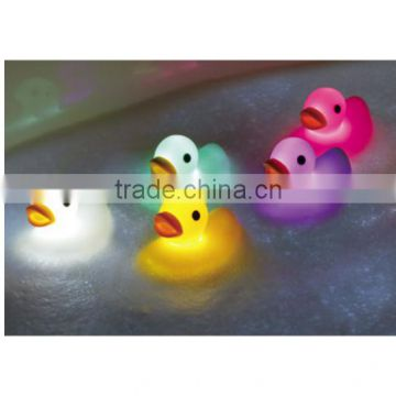 Hot 2 inch Duck Bath Light Vinyl Toys/OEM Made Shining Animals PVC Vinyl Toys/Custom Light Vinyl Toys China Factory