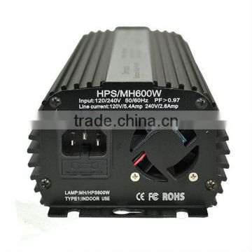 600W dimmable electronic ballast with cooling fan
