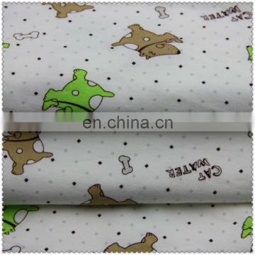Cotton spandex jersey printed fabric