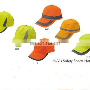 fluorescent Promotional Hi-vis Reflective Safety Sport Hat