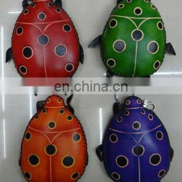 Europe hot Ladybug multi-function Genuine leather leather coin purse