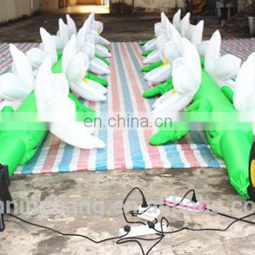 2018 ningbang hot sale LED inflatable flower chains for wedding decoration
