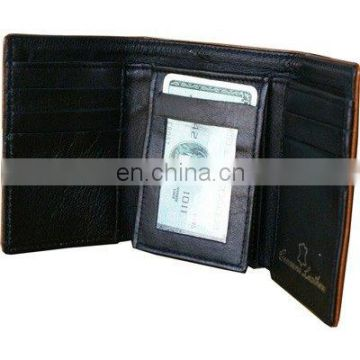 HMB-714A LEATHER TRIFOLD WALLET QUALITY MEN PURSE
