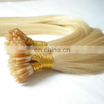 prebonded i tip hair extensions wholesale hair supplier indian hair blonde color