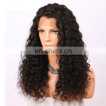 Wholesale Price Customized Curly virgin Brazilian Hair 360 lace frontal wig
