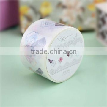 xg-10012 China suppliers foil washy paper tape decorative washy paper tape custom washy paper tape