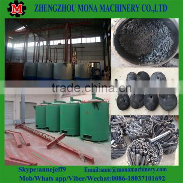 wood logs charring stove/timber charcoal making machine/palm kernel carbonization furnace