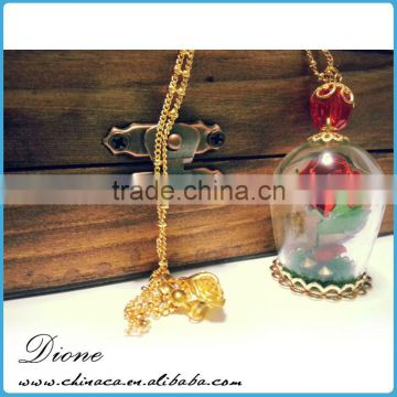 Starfish seahorse Miniature glass vial necklace pendant
