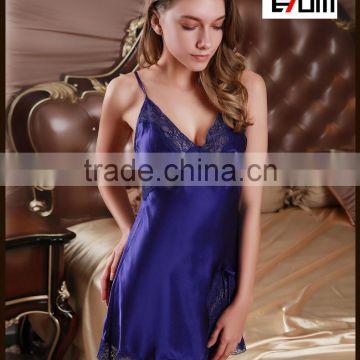 07c714120e 0850 Floral Lace Nightdress spaghetti strap slip sexy girls satin photos  nightdress dress satin Nightgown of Sleepwear  Nightwear from China  Suppliers - ...