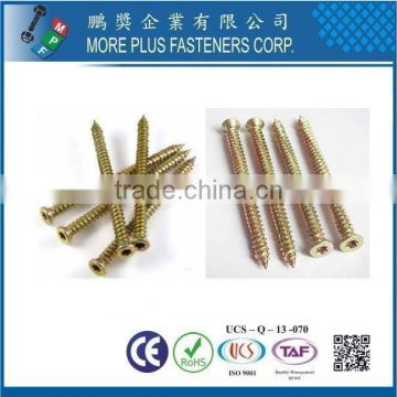 Easy drive M7.5 with 5 Locking Ribs Deep High Low Thread Self Drilling Zinc Yellow Plated Flat Countersunk Concrete Screws