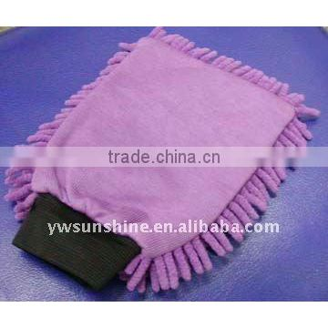dual sided Microfiber cleaning glove