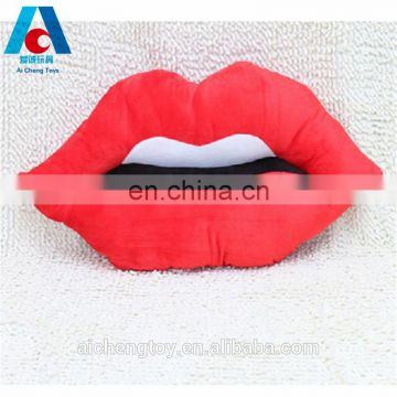 custom big size sexy red lip plush toy pillow with foam particles