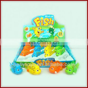 Wind up plastic bath toys swimming fish