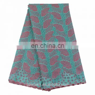 New arrival African embroidery lace fabrics lace fabric for dress s170303004